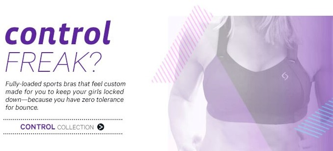 control collection moving comfort sports bra