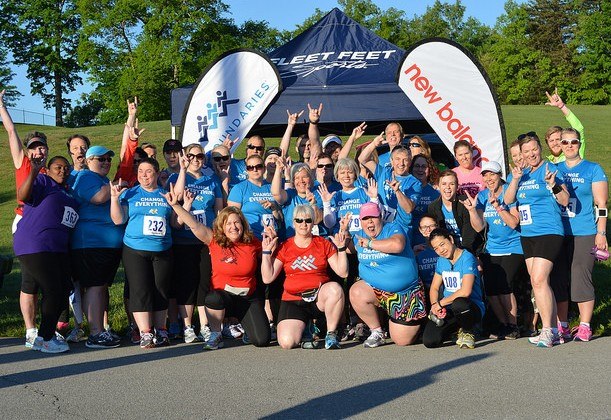 Run for the Deaf 2014 Fleet Feet Knoxville No Boundaries Team