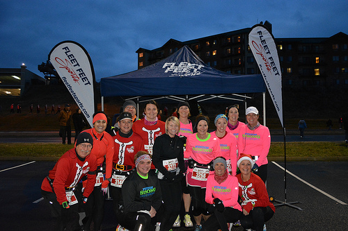 fleet feet sports knoxville santa hustle smokies long distance training group