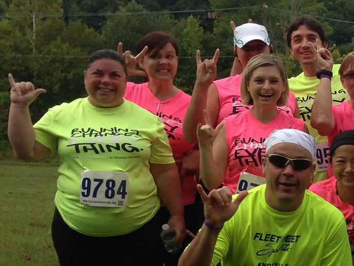 Pam at the Butterfly Fund 5k in 2013