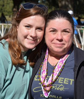 Pam and her daughter after the 2015 New Orleans Half Marathon